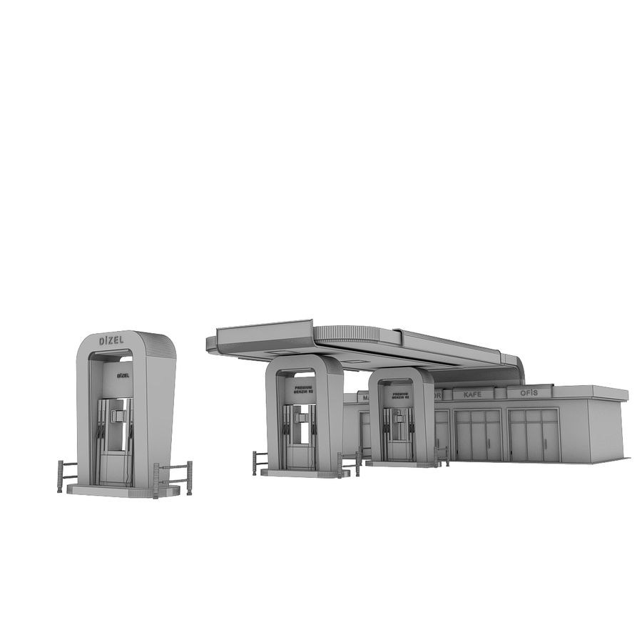 Gas Station royalty-free 3d model - Preview no. 17