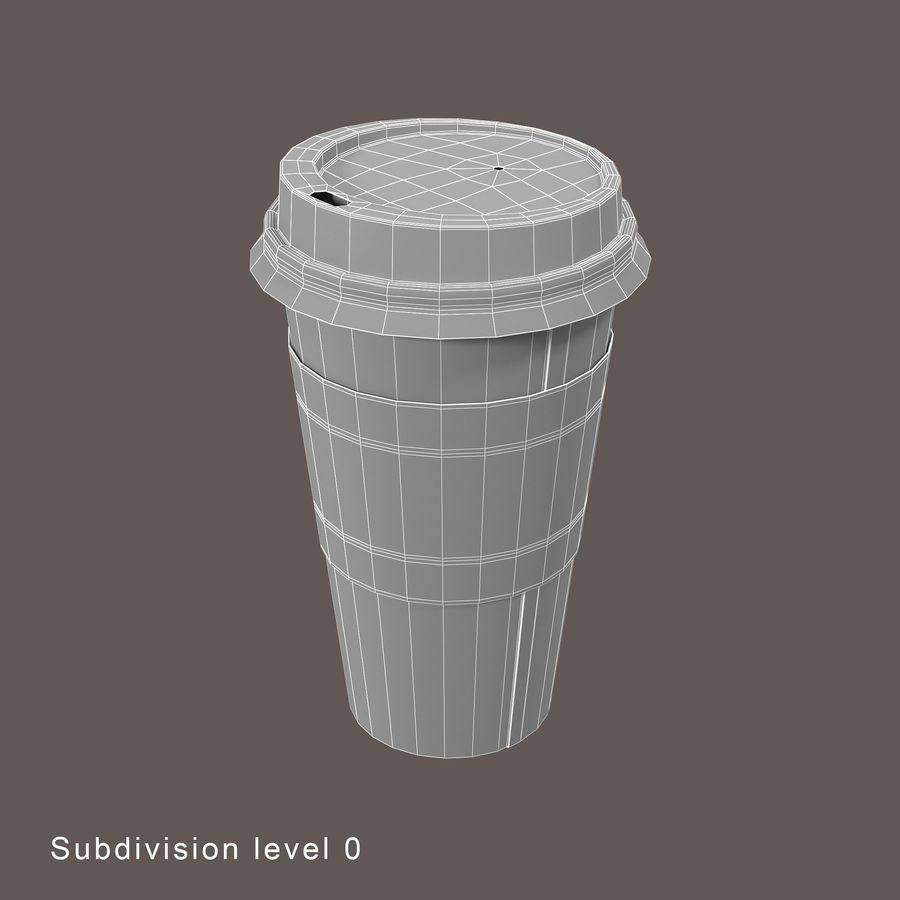 去咖啡杯1 royalty-free 3d model - Preview no. 8
