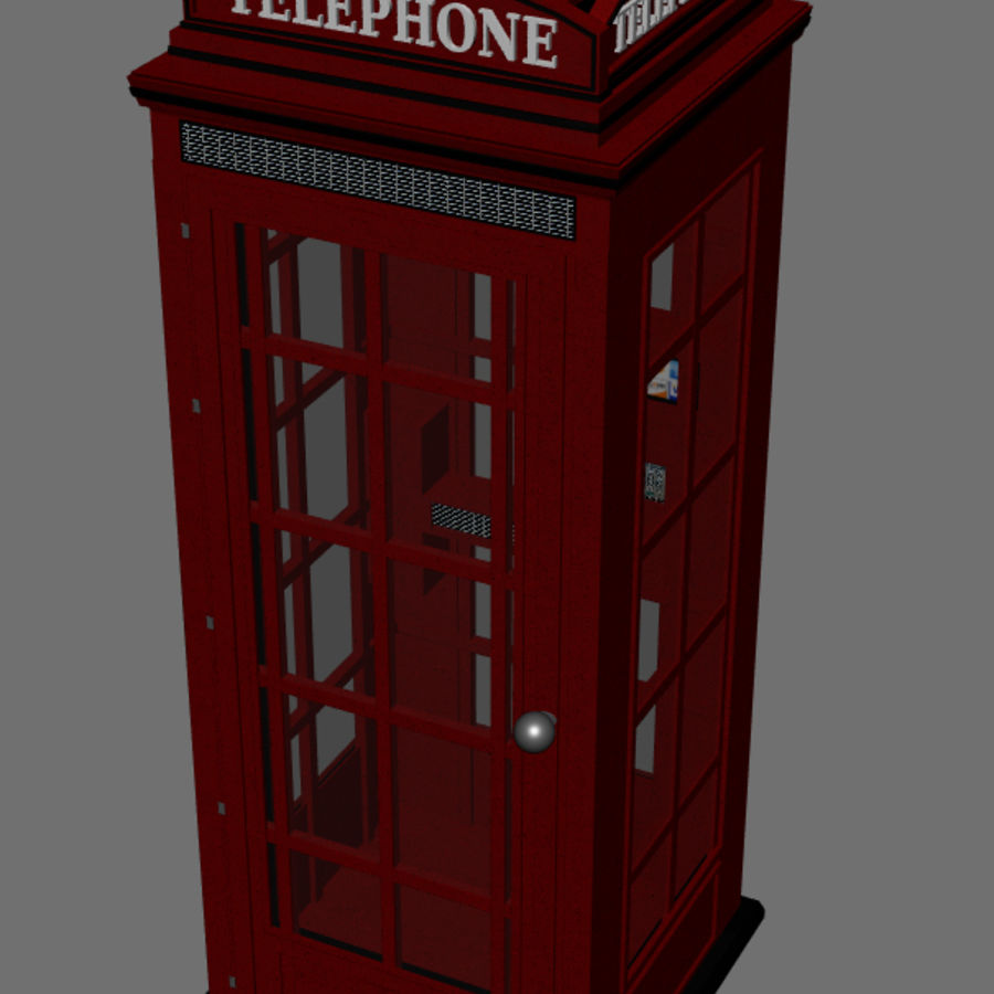 Telephone Booth royalty-free 3d model - Preview no. 5
