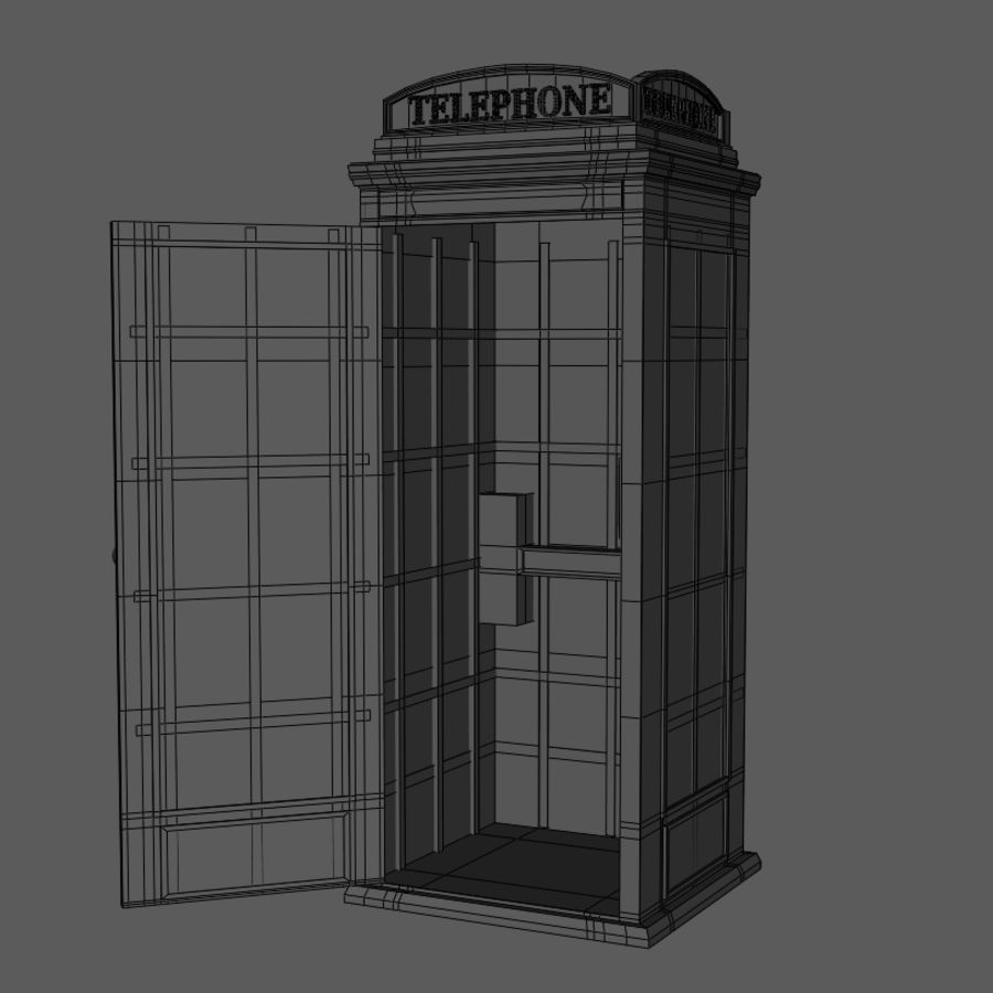 Telephone Booth royalty-free 3d model - Preview no. 8