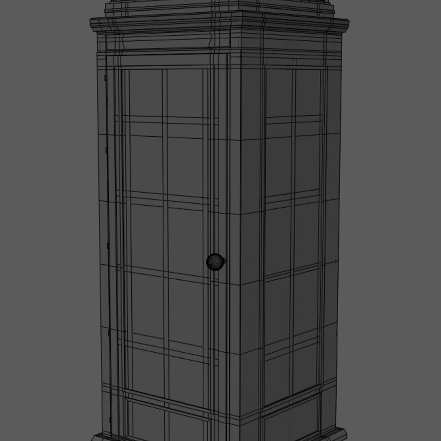 Telephone Booth royalty-free 3d model - Preview no. 7