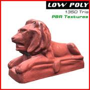 Sculpture de lion 3d model