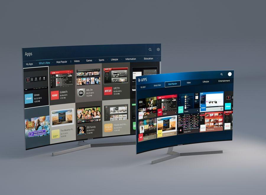 Samsung 4K Smart TV 9000 55 ve 75 inç royalty-free 3d model - Preview no. 1