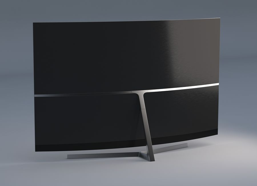 Samsung 4K Smart TV 9000 55 ve 75 inç royalty-free 3d model - Preview no. 3