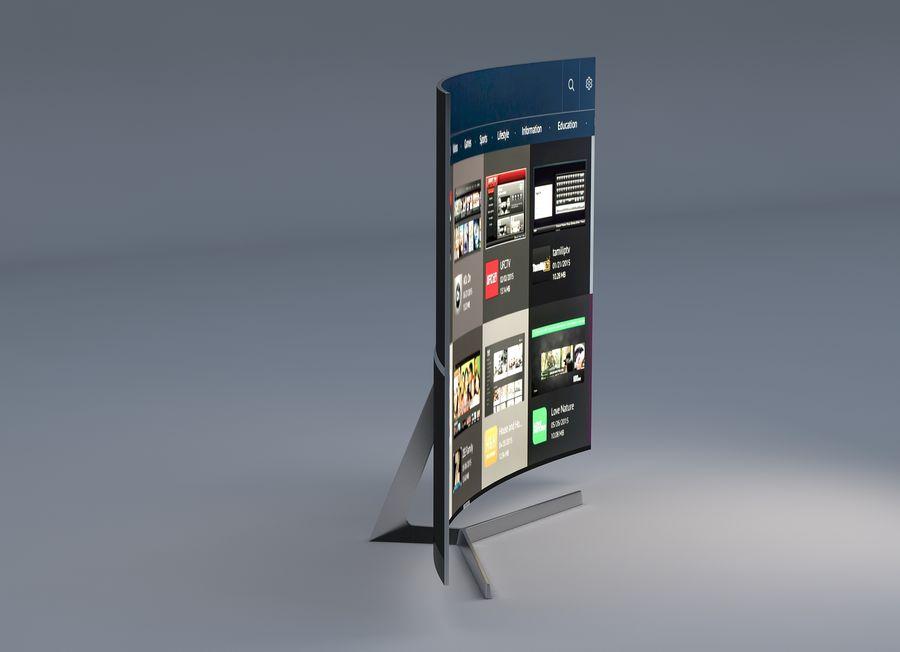 Samsung 4K Smart TV 9000 55 ve 75 inç royalty-free 3d model - Preview no. 8