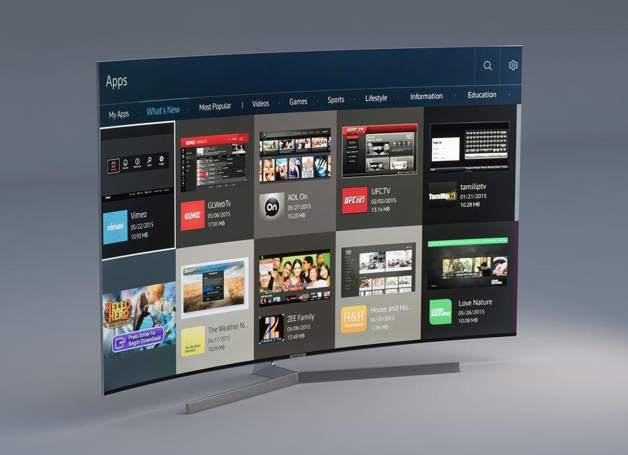 Samsung 4K Smart TV 9000 55 ve 75 inç royalty-free 3d model - Preview no. 2