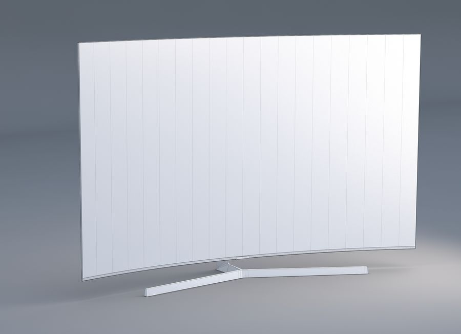 Samsung 4K Smart TV 9000 55 ve 75 inç royalty-free 3d model - Preview no. 6