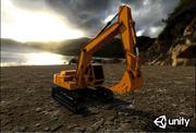 Excavator digger 3d model