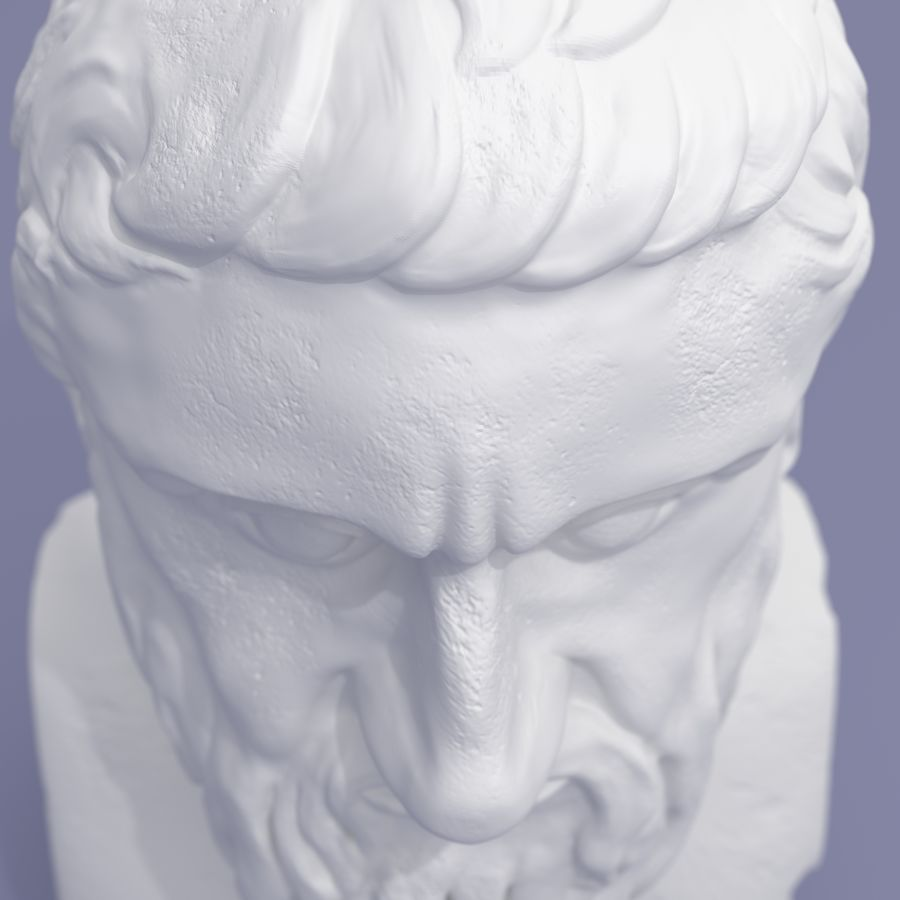 Plato Bust royalty-free 3d model - Preview no. 7