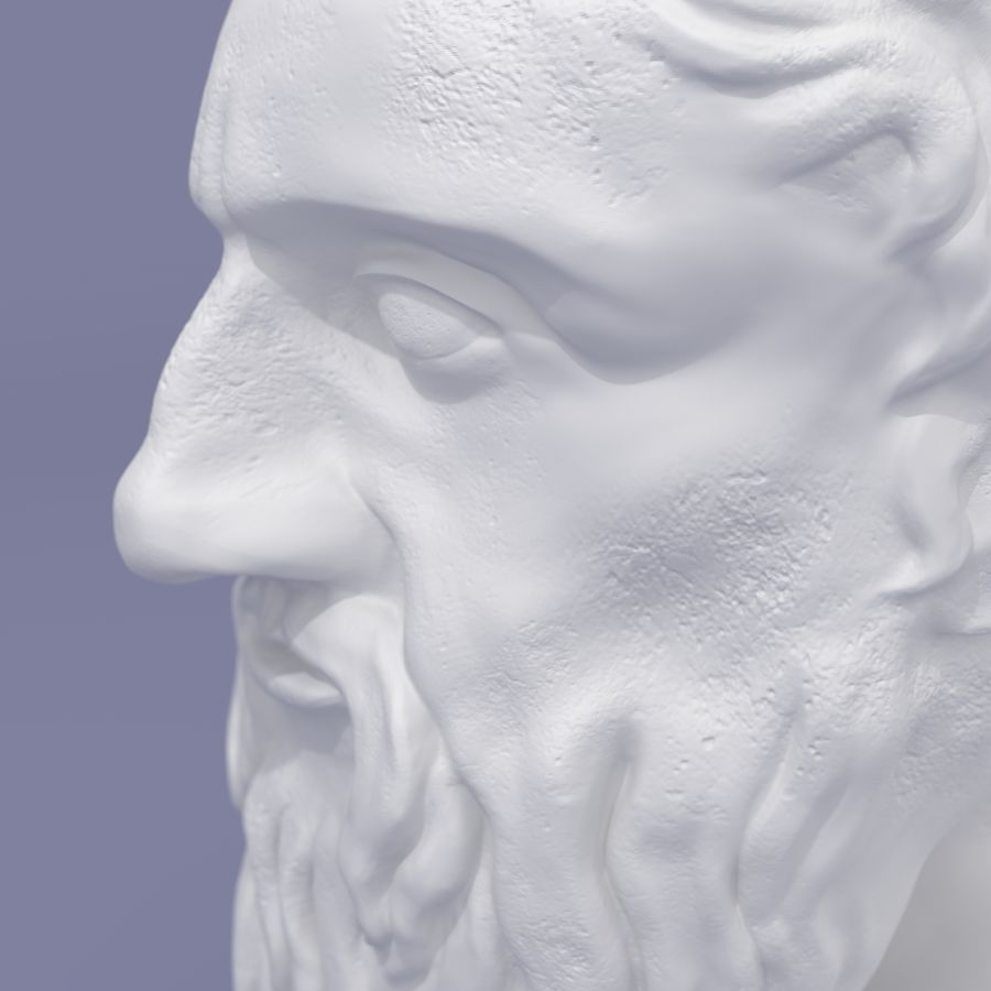 Plato Bust royalty-free 3d model - Preview no. 4