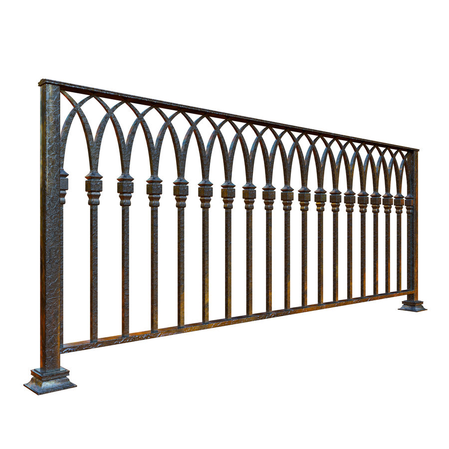 Railing old iron royalty-free 3d model - Preview no. 5