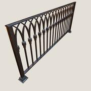 Railing old iron 3d model