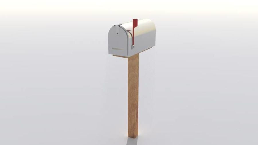 Mailbox with stand royalty-free 3d model - Preview no. 2