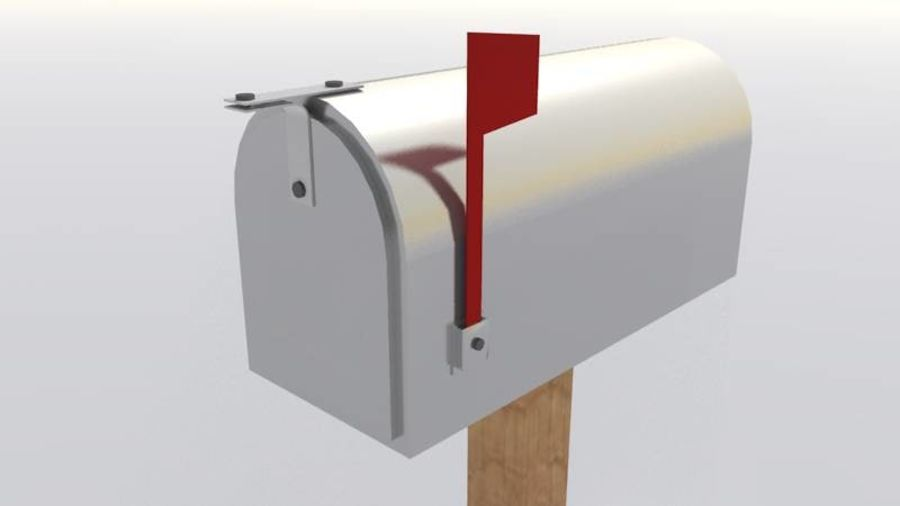 Mailbox with stand royalty-free 3d model - Preview no. 3