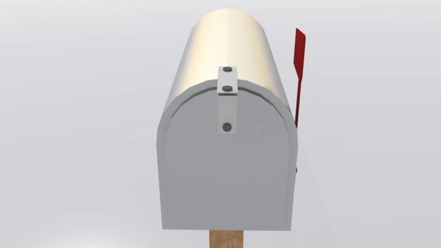 Mailbox with stand royalty-free 3d model - Preview no. 4