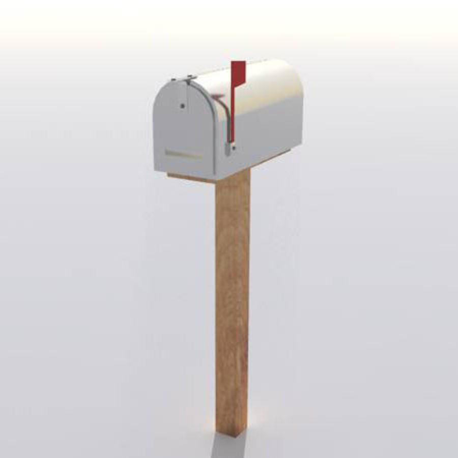 Mailbox with stand royalty-free 3d model - Preview no. 1