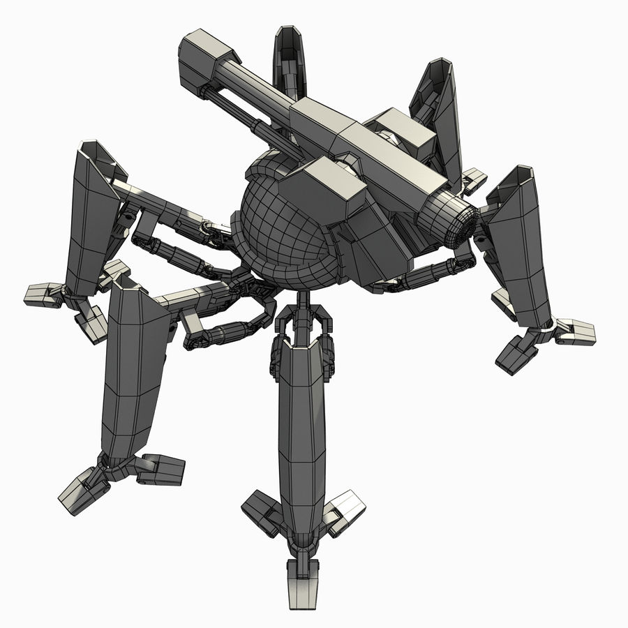 Robot spider royalty-free 3d model - Preview no. 7