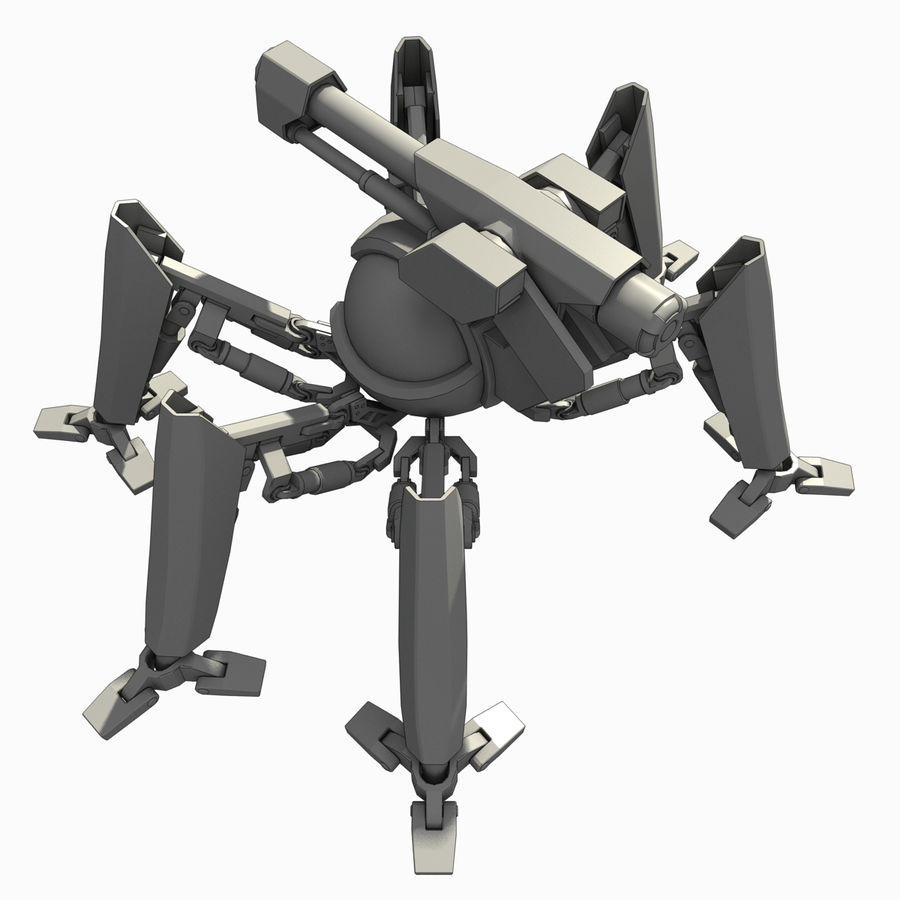Robot spider royalty-free 3d model - Preview no. 2