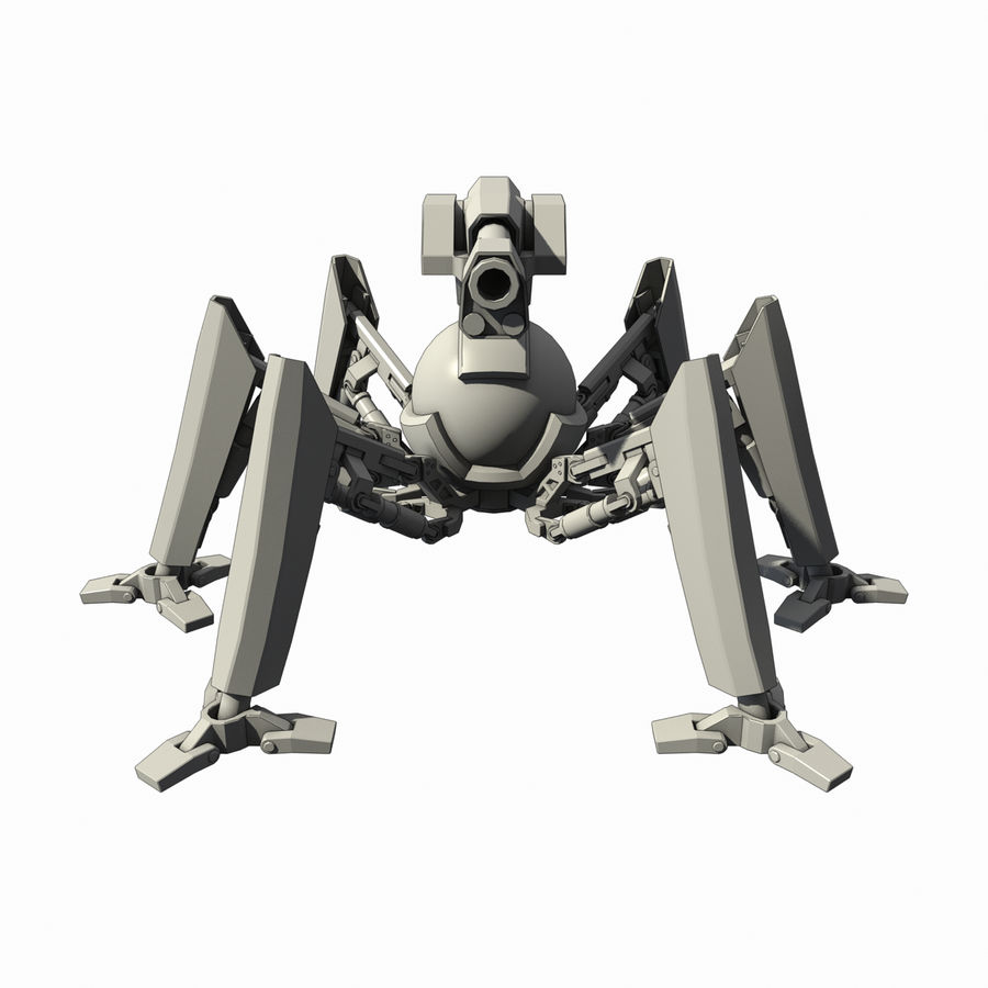 Robot spider royalty-free 3d model - Preview no. 5