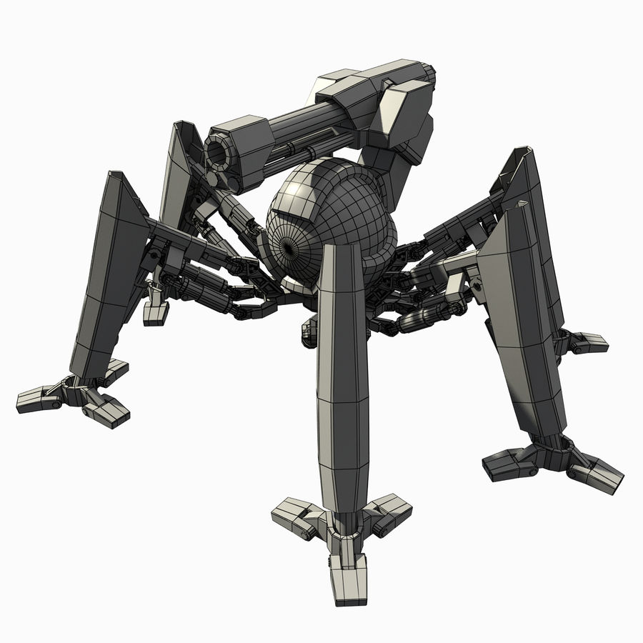 Robot spider royalty-free 3d model - Preview no. 6