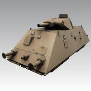 Panzer Draisine (gepanzerter Zug) 3d model