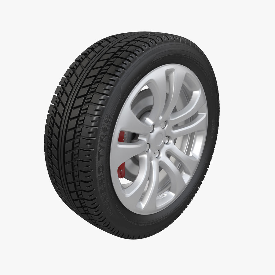 Car Wheel With Alloy Disc royalty-free 3d model - Preview no. 1
