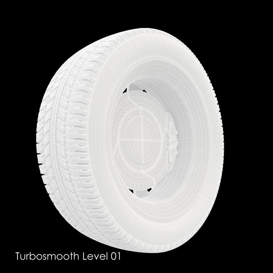 Car Wheel With Alloy Disc royalty-free 3d model - Preview no. 15
