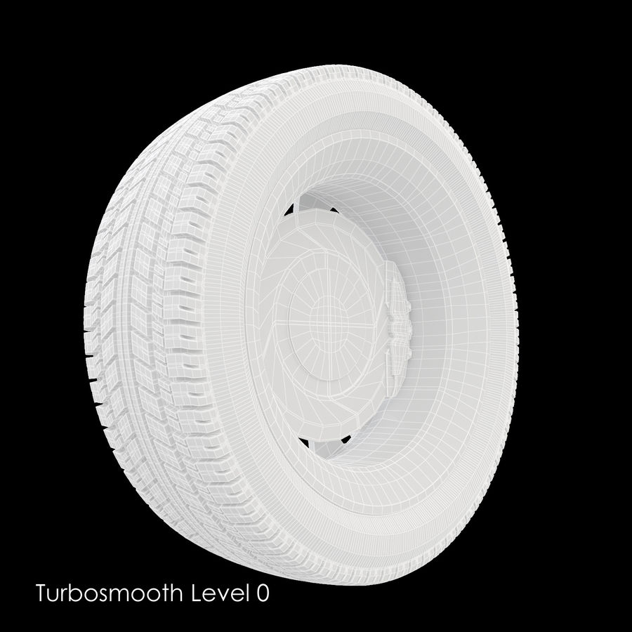 Car Wheel With Alloy Disc royalty-free 3d model - Preview no. 10