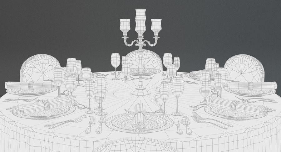 Mesa de banquete 03 royalty-free modelo 3d - Preview no. 9