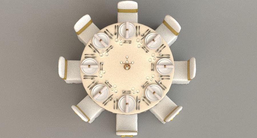 Mesa de banquete 03 royalty-free modelo 3d - Preview no. 5