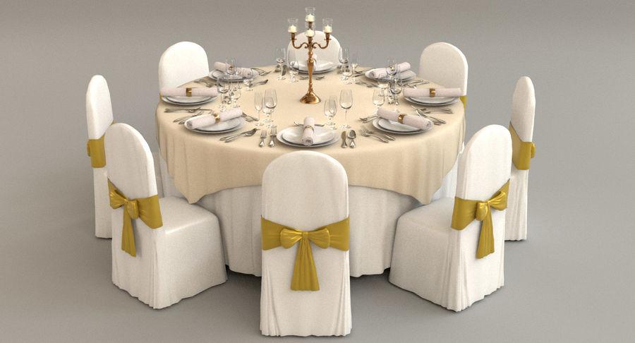 Mesa de banquete 03 royalty-free modelo 3d - Preview no. 2