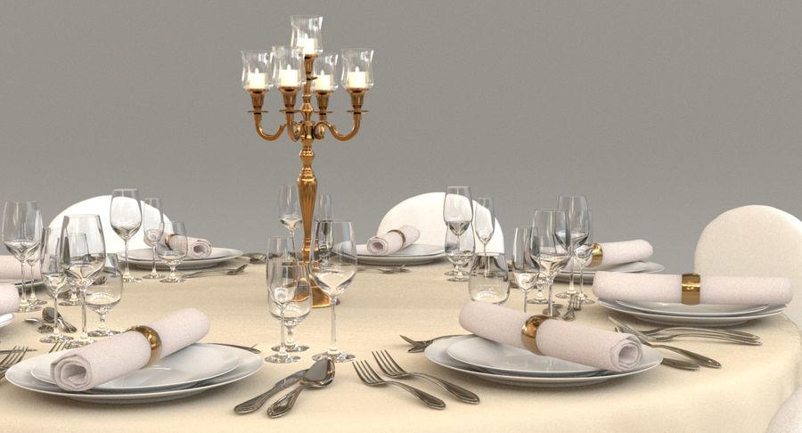 Mesa de banquete 03 royalty-free modelo 3d - Preview no. 4