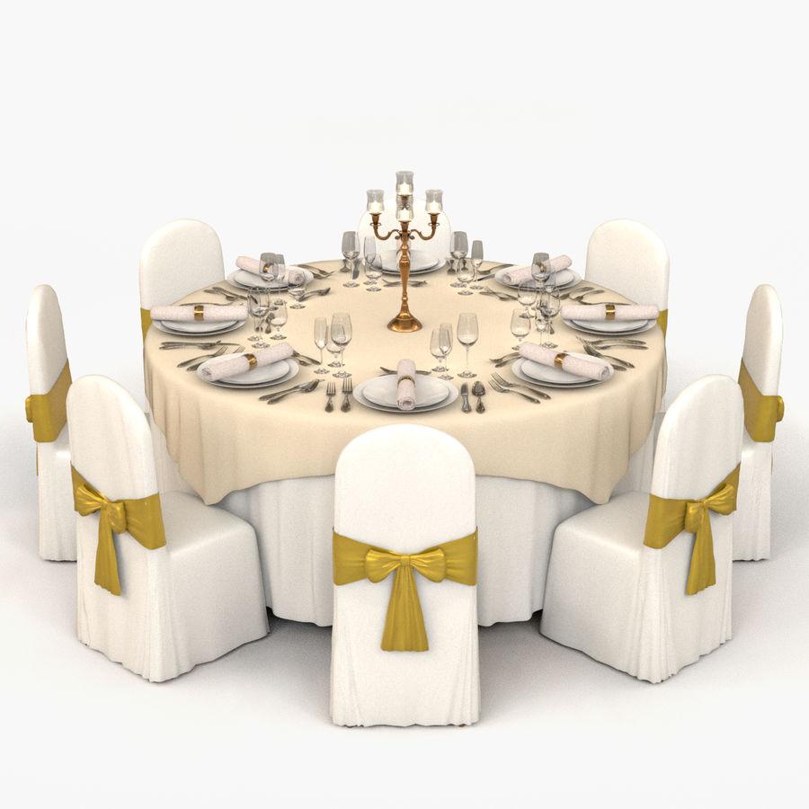 Mesa de banquete 03 royalty-free modelo 3d - Preview no. 1