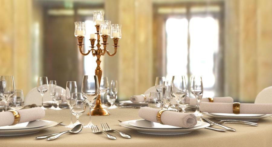 Mesa de banquete 03 royalty-free modelo 3d - Preview no. 11
