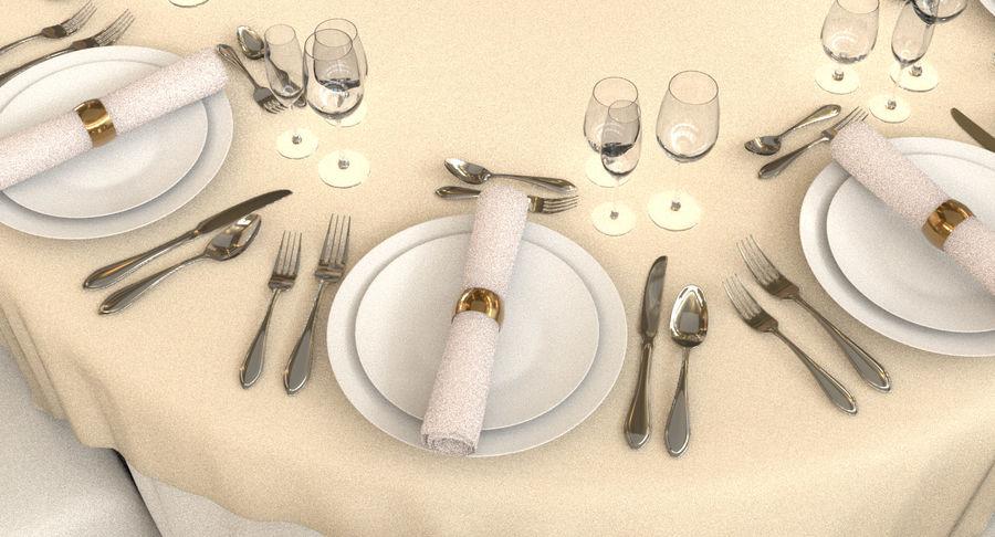 Mesa de banquete 03 royalty-free modelo 3d - Preview no. 6