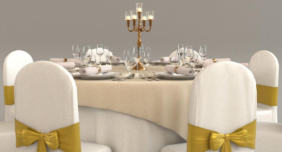 Mesa de banquete 03 royalty-free modelo 3d - Preview no. 3