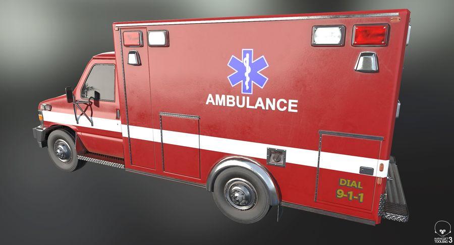 Ambulance royalty-free 3d model - Preview no. 3