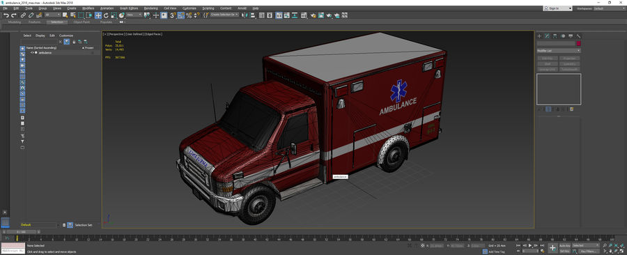 Ambulance royalty-free 3d model - Preview no. 22