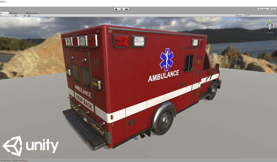 Ambulance royalty-free 3d model - Preview no. 21