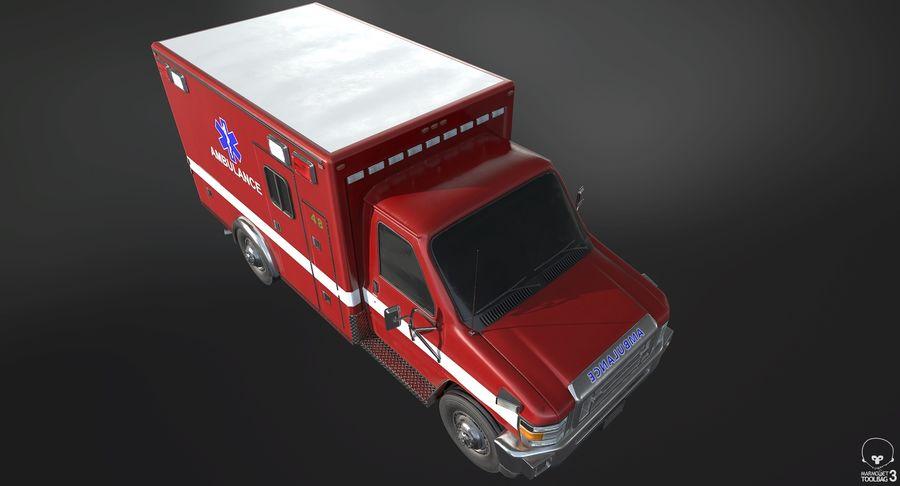 Ambulance royalty-free 3d model - Preview no. 7
