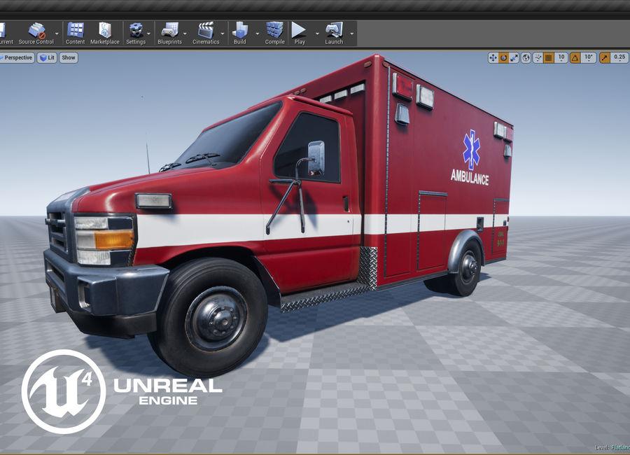 Ambulance royalty-free 3d model - Preview no. 16