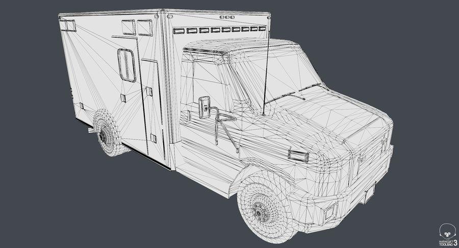 Ambulance royalty-free 3d model - Preview no. 14