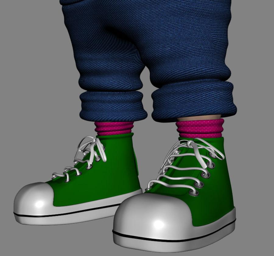 Girl Character Cartoon V1 royalty-free 3d model - Preview no. 8