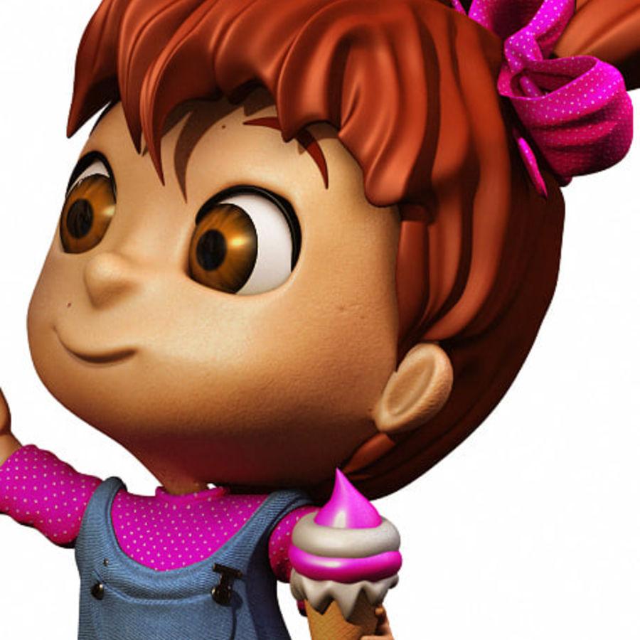 Girl Character Cartoon V1 royalty-free 3d model - Preview no. 5