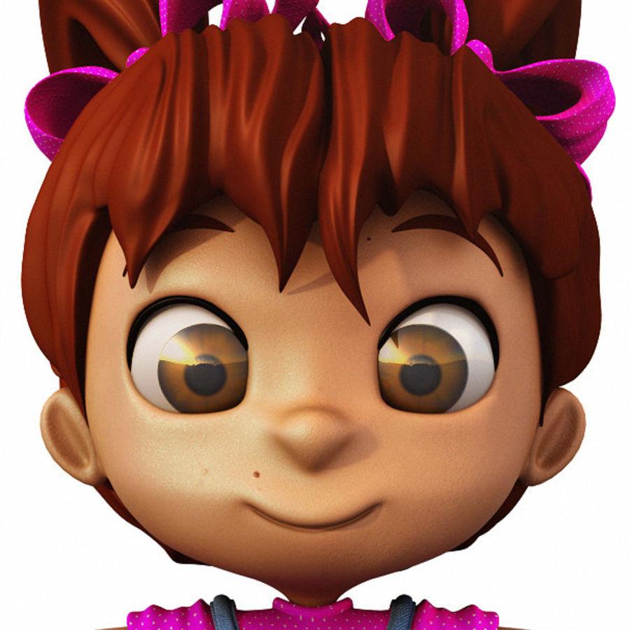 Girl Character Cartoon V1 royalty-free 3d model - Preview no. 6