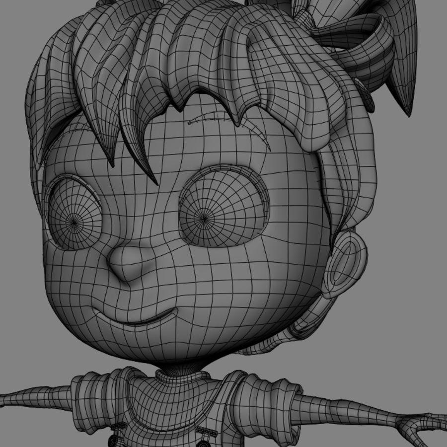 Girl Character Cartoon V1 royalty-free 3d model - Preview no. 16