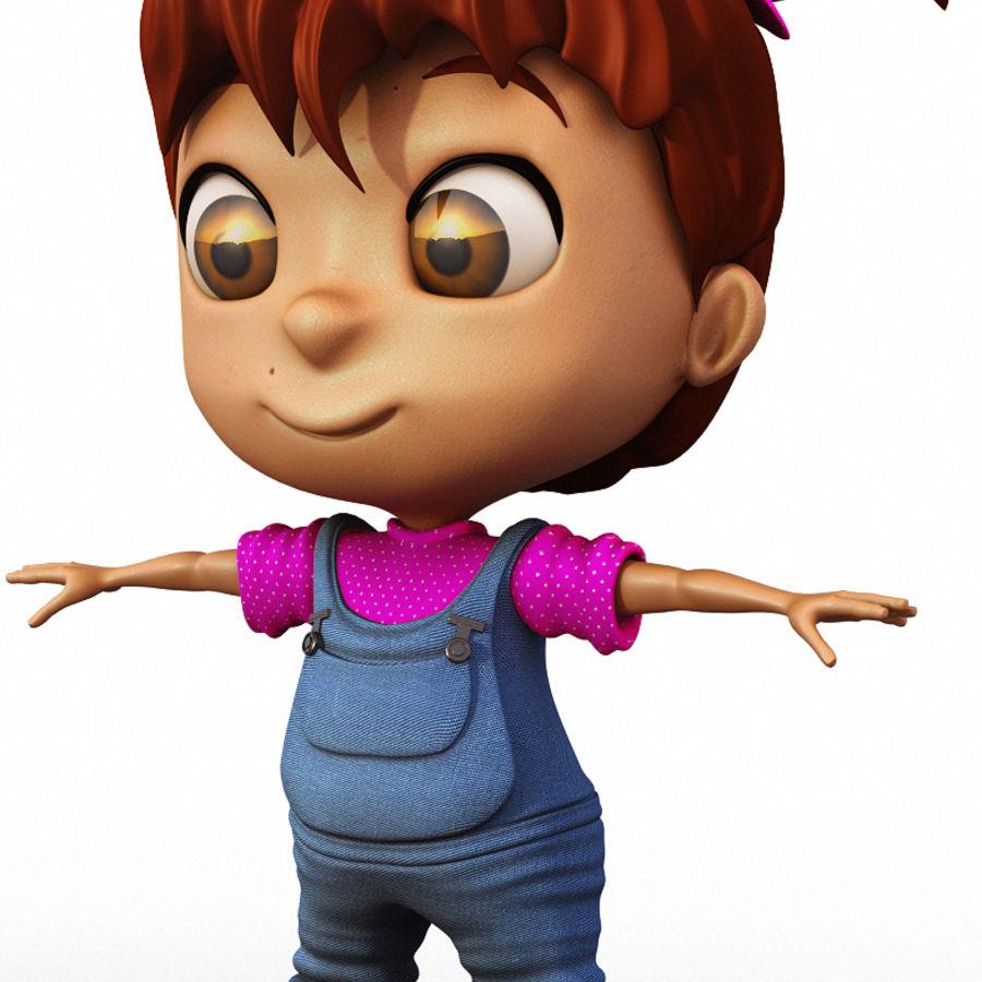 Girl Character Cartoon V1 royalty-free 3d model - Preview no. 4