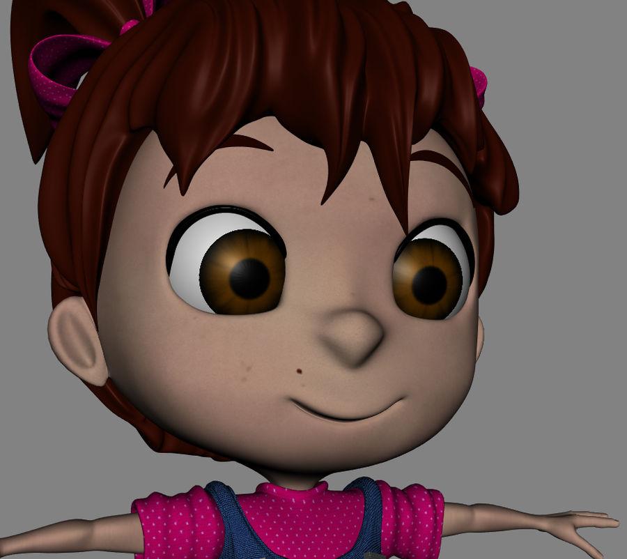 Girl Character Cartoon V1 royalty-free 3d model - Preview no. 10