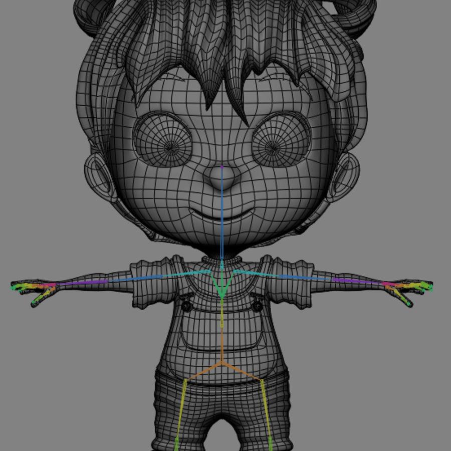 Girl Character Cartoon V1 royalty-free 3d model - Preview no. 14