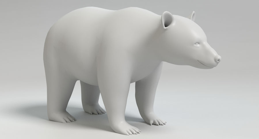 Black Bear royalty-free 3d model - Preview no. 10